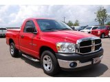 2007 Flame Red Dodge Ram 1500 ST Regular Cab #13892132