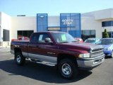 2001 Dark Garnet Red Pearl Dodge Ram 1500 SLT Club Cab 4x4 #13937449