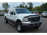 2004 Oxford White Ford F250 Super Duty Lariat Crew Cab 4x4 #13892136