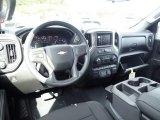 2021 Chevrolet Silverado 1500 Custom Double Cab 4x4 Jet Black Interior