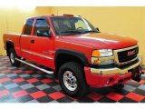 2003 Fire Red GMC Sierra 2500HD SLE Extended Cab 4x4 #13894994