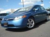 2007 Atomic Blue Metallic Honda Civic EX Sedan #13887119