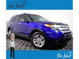 2013 Deep Impact Blue Metallic Ford Explorer XLT 4WD #139899737