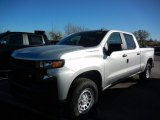 2021 Silver Ice Metallic Chevrolet Silverado 1500 WT Crew Cab 4x4 #140095277