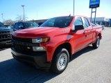 2021 Red Hot Chevrolet Silverado 1500 WT Double Cab #140095276