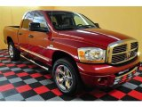 2006 Inferno Red Crystal Pearl Dodge Ram 1500 Laramie Quad Cab 4x4 #13894998