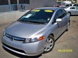 2006 Galaxy Gray Metallic Honda Civic LX Sedan #13897062