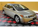 2007 Borrego Beige Metallic Honda Civic EX Sedan #13894978