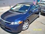 2007 Royal Blue Pearl Honda Civic LX Sedan #13897069
