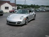 2008 Arctic Silver Metallic Porsche 911 Turbo Cabriolet #13875587
