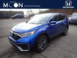 2021 Aegean Blue Metallic Honda CR-V EX AWD #140288109