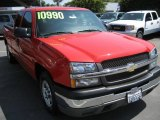 2004 Victory Red Chevrolet Silverado 1500 Work Truck Extended Cab #14058190