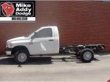 2007 Bright White Dodge Ram 3500 ST Regular Cab Chassis #14054663