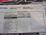 2021 Chevrolet Silverado 1500 Custom Crew Cab 4x4 Window Sticker