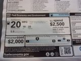2021 Chevrolet Silverado 1500 Custom Crew Cab 4x4 Info Tag