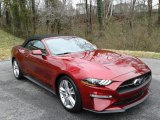 2019 Ford Mustang EcoBoost Convertible Front 3/4 View