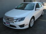 2010 White Platinum Tri-coat Metallic Ford Fusion Hybrid #14104139