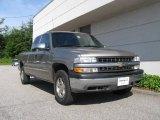 2001 Light Pewter Metallic Chevrolet Silverado 1500 LS Extended Cab 4x4 #14160625