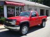 2004 Victory Red Chevrolet Silverado 1500 Regular Cab 4x4 #14160762