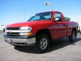 2002 Victory Red Chevrolet Silverado 1500 LS Regular Cab 4x4 #14160324