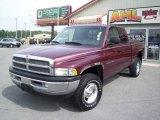 2001 Dark Garnet Red Pearl Dodge Ram 1500 SLT Club Cab 4x4 #14146130