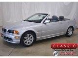 2001 Titanium Silver Metallic BMW 3 Series 325i Convertible #142053246