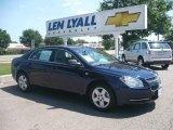 2008 Imperial Blue Metallic Chevrolet Malibu LS Sedan #14214136