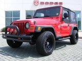2006 Flame Red Jeep Wrangler X 4x4 #14217158