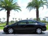 2007 Nighthawk Black Pearl Honda Civic LX Sedan #14146396