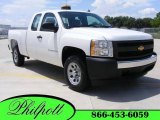 2008 Summit White Chevrolet Silverado 1500 Work Truck Extended Cab #14220264
