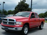2002 Flame Red Dodge Ram 1500 SLT Quad Cab 4x4 #14213786