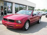2005 Redfire Metallic Ford Mustang V6 Deluxe Convertible #14218210