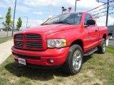2004 Flame Red Dodge Ram 1500 SLT Regular Cab 4x4 #14300557