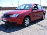 2005 Sangria Red Metallic Ford Focus ZX4 S Sedan #14292739