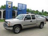 2004 Silver Birch Metallic Chevrolet Silverado 1500 LS Extended Cab 4x4 #14356366