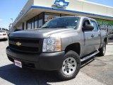 2008 Graystone Metallic Chevrolet Silverado 1500 Work Truck Crew Cab 4x4 #14494000