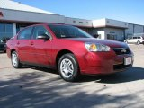 2007 Sport Red Metallic Chevrolet Malibu LS Sedan #1442565
