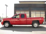 2007 Victory Red Chevrolet Silverado 1500 LT Extended Cab 4x4 #14554575