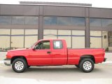 2006 Victory Red Chevrolet Silverado 1500 LS Extended Cab 4x4 #14554507
