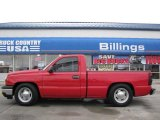 2007 Victory Red Chevrolet Silverado 1500 Classic LS Regular Cab #14554644
