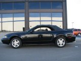 2001 Black Ford Mustang V6 Convertible #14554382