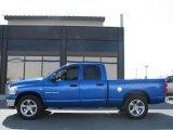 2007 Electric Blue Pearl Dodge Ram 1500 SLT Quad Cab #14554502