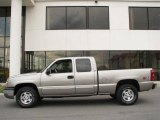 2003 Light Pewter Metallic Chevrolet Silverado 1500 LT Extended Cab 4x4 #14554392