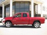 2007 Inferno Red Crystal Pearl Dodge Ram 1500 Big Horn Edition Quad Cab 4x4 #14554489