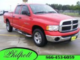 2005 Flame Red Dodge Ram 1500 SLT Quad Cab #14585359