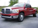 2009 Inferno Red Crystal Pearl Dodge Ram 3500 Big Horn Edition Quad Cab Dually #14582175