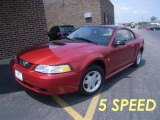 2000 Laser Red Metallic Ford Mustang V6 Coupe #14586708