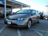 2007 Galaxy Gray Metallic Honda Civic Si Sedan #1466440