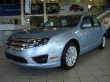 2010 Light Ice Blue Metallic Ford Fusion Hybrid #14632434