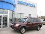2007 Dark Cherry Pearl Honda Pilot EX-L 4WD #14709631